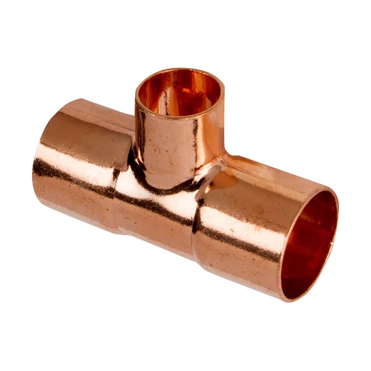 Copper Tee - 3/4-in x 3/4-in x 1/2-in